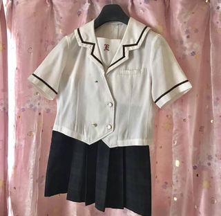 地方高校制服ミニスカート丈47ブラウスセーラー服