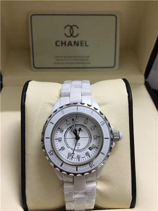 ダイヤベゼル腕時計ウォッチベルト セラミック C83