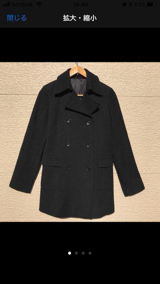 ANAYI コート 黒 ブラック 38