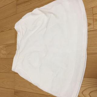 クリア 白スカート