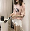 韓国風 夏服 半袖Tシャツ