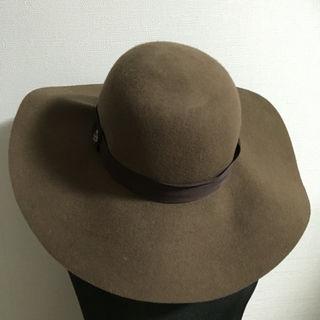 index女優帽ブラウン