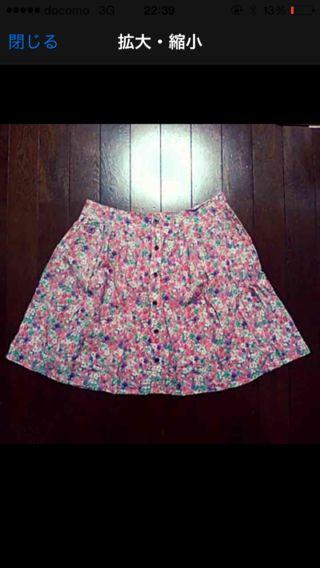 小花柄スカート スカート