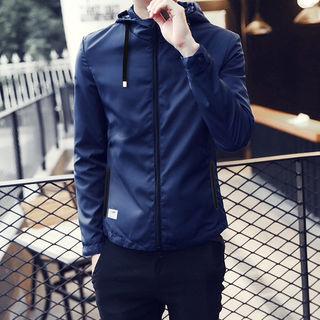 Mサイズ ジップアップ ライトジャケット ブルゾン ブルー