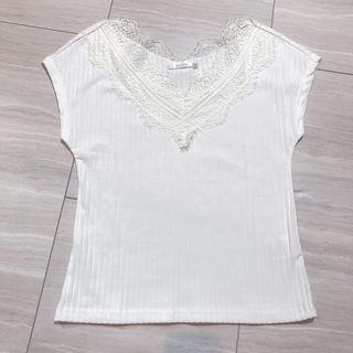 レトロガールレース襟Tシャツ