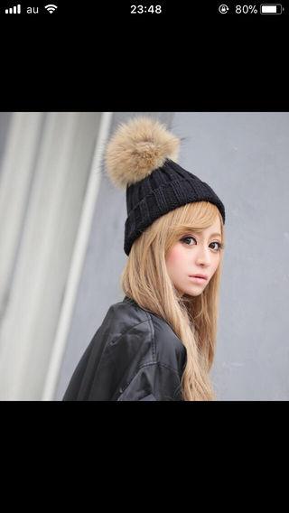 エミリアウィズラクーンファーニット帽