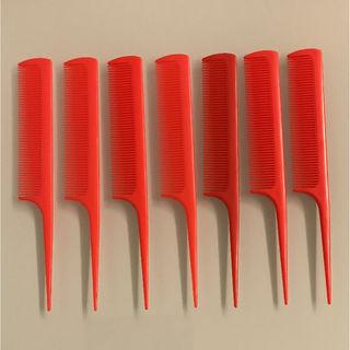 【未使用】赤いクシ7本セット