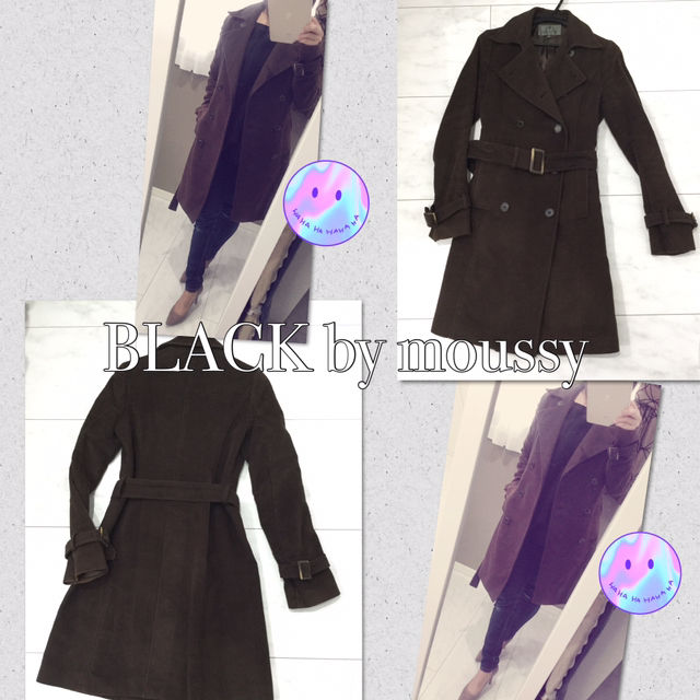 BLACK by moussy コート トレンチ ロング(BLACK by moussy(ブラックバイマウジー) ) - フリマアプリ&サイトShoppies[ショッピーズ]