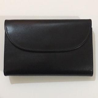 ホワイトハウスコックス3つ折り革財布レザーウォレットブラック