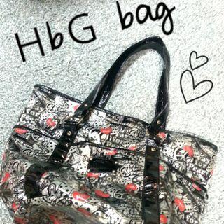 【売り切れ】HbG エイチビージー デカ トートバッグ