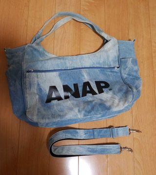 ANAP デニムトートバッグ 2wayバック