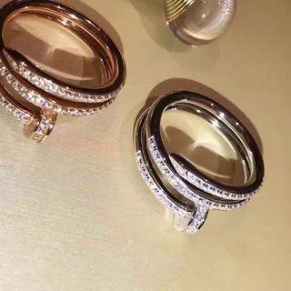 2色入『Cartier』ダイヤ付け イアリング2-86