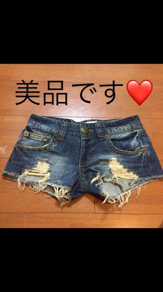 【GARULA】クラッシュデニムショートパンツ
