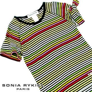 美品!! ソニアリキエル マルチボーダー 半袖TシャツM63