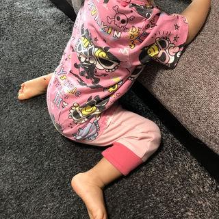 【ヒスミニ】デビルキンTシャツ90スパッツコーデSET