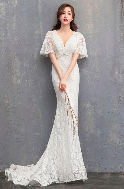 ウェディングドレス前撮り結婚式二次会パーティー花嫁ドレス