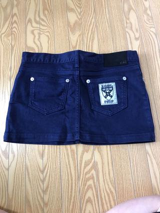 x-girlミニスカート!紺色