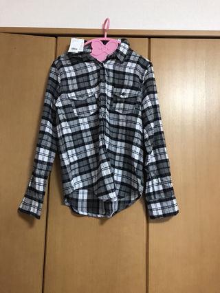 チャックシャツ ブラック janiss