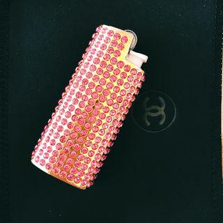 アッシュ&ダイアモンド 新品 スワロフスキー ライターケース