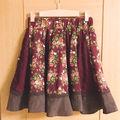 アクシーズファム 赤の花柄レーススカート