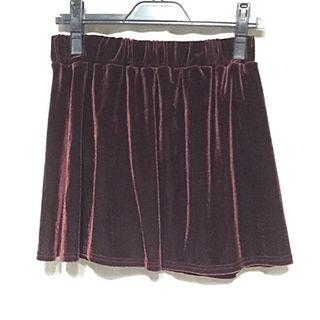 CLEF DE SOLベルベット ミニスカート