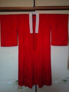 真紅アンティーク*長襦袢正絹袷154美品小振袖
