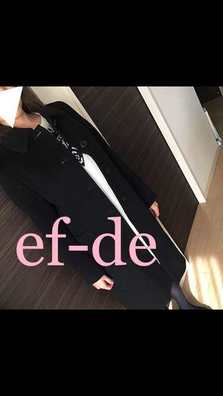 キュプラ アンゴラ 高級 ロングコート エフデ ブラック 黒