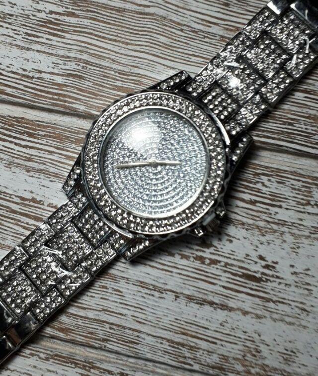シルバー ラインストーン 腕時計 メンズ レディース