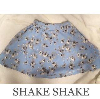 SHAKE SHAKEフラワーフレアスカートBlue