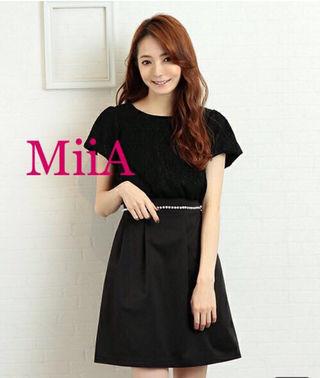 定価8,532円MiiA パールリボンテールスカート