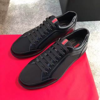 靴 プラダ レザー 美品