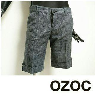 OZOC*タータンチェックハーフパンツ