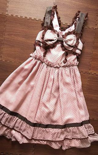 Baby,イチゴチョコカラーのジャンパースカート