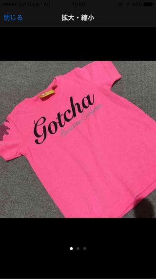 100cm GOTCHA Tシャツ pink
