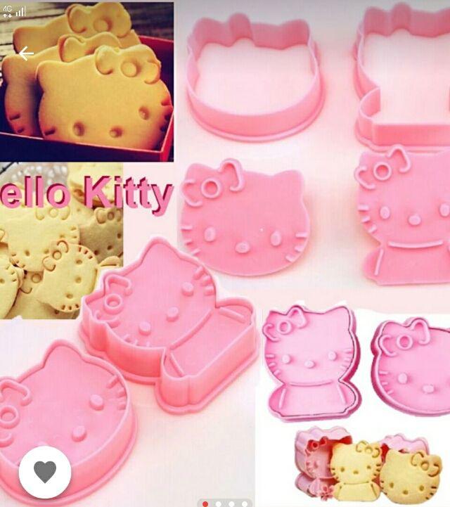 新品送料無料 キティちゃんのクッキー型2個セット フリマアプリサイト