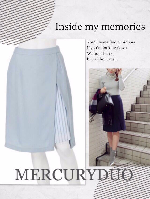 送料無料定価8500ラップ風プリーツスリットスカート(MERCURYDUO(マーキュリーデュオ) ) - フリマアプリ&サイトShoppies[ショッピーズ]