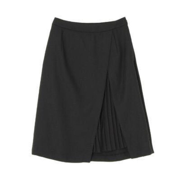 送料無料定価8500ラップ風プリーツスリットスカート