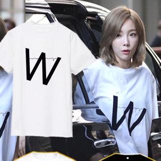 新品 少女時代テヨン着用デザインTシャツ