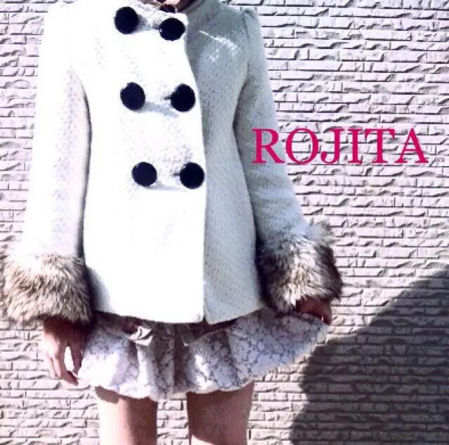 ROJITA2weyファー ノーカラーコートし(ROJITA(ロジータ) ) - フリマアプリ&サイトShoppies[ショッピーズ]