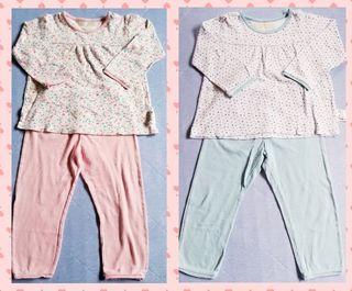 【ジャンク品】パジャマ色違い2着セット