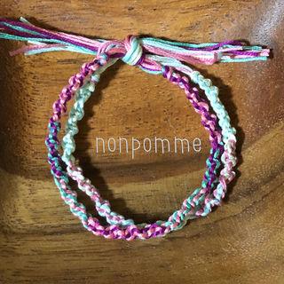 ミサンガ 2連 ブレスレット bracelet