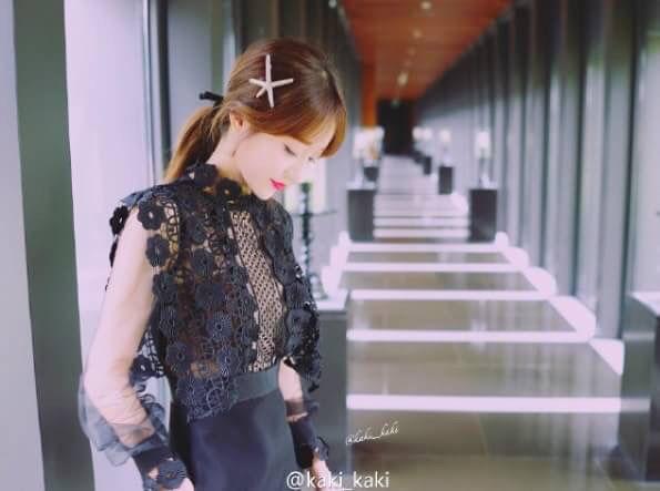 黒 ブラック レース × シースルー ワンピース ドレス