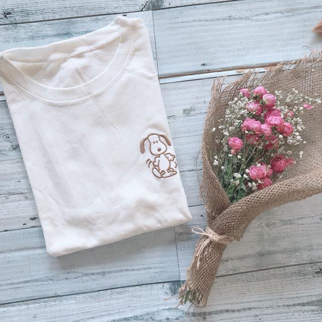 新品 スヌーピー 刺繍 Tシャツ(DHOLIC(ディーホリック) ) - フリマアプリ&サイトShoppies[ショッピーズ]