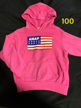 ANAP kids パーカー アナップ ピンク 100