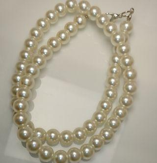 【新品未使用】8mm パール 模擬真珠 ネックレス