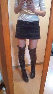 DURAS黒タイトミニスカート#S