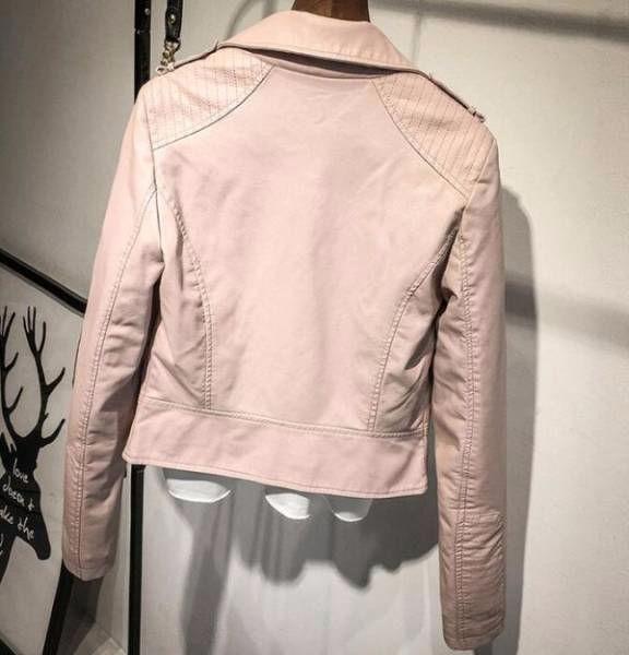レディース ライダースジャケット ピンク/Mサイズ
