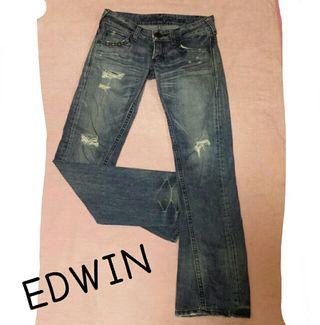 【本日限定価格】EDWIN ダメージデニム