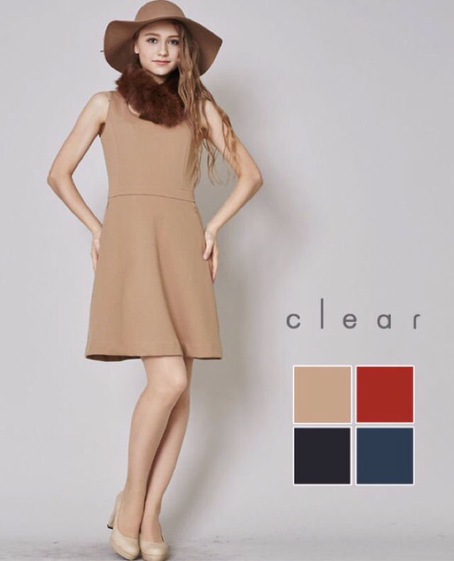 clearベーシックワンピ新品タグ付き(clear(クリア) ) - フリマアプリ&サイトShoppies[ショッピーズ]