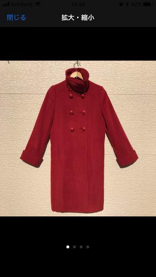 JUSGLITTY コート 赤 2